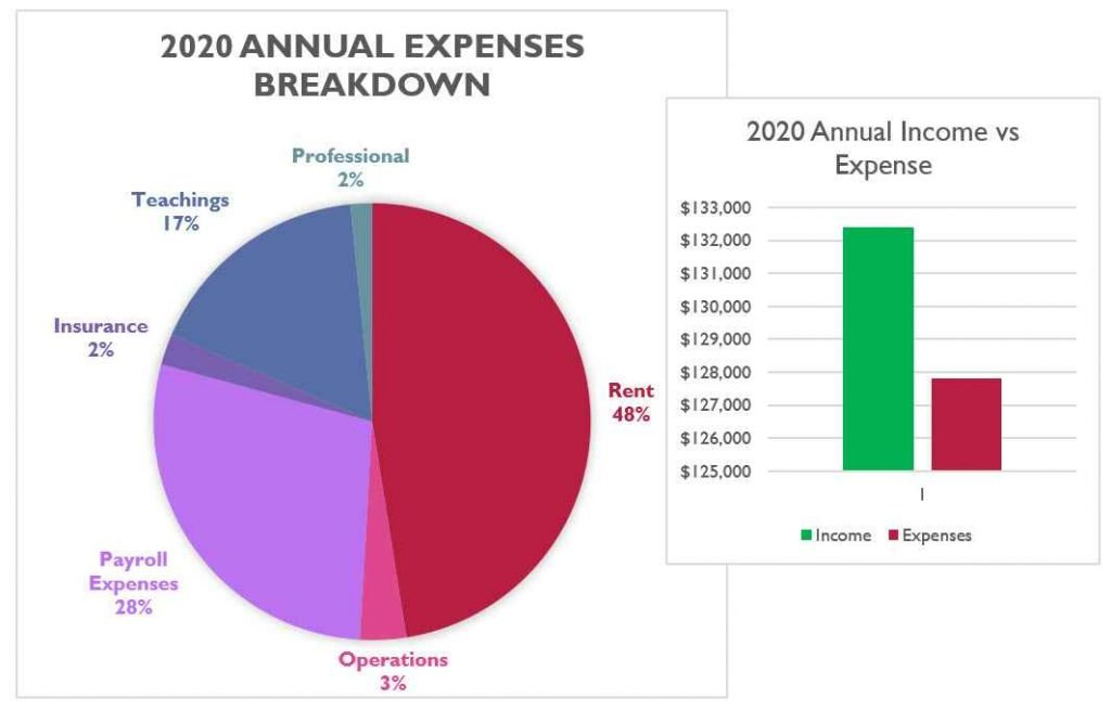 2020 full year financial graphic
